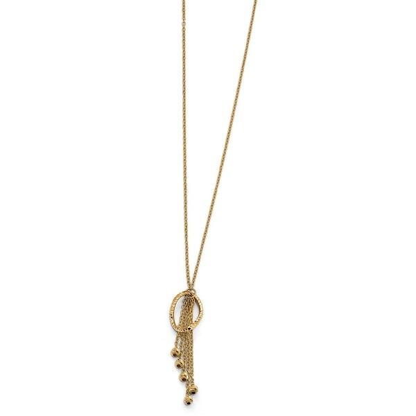 Italian 14k Gold Diamond Cut Necklace - 17 inches