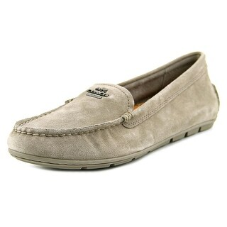 Coach Mary Lock Up Round Toe Suede Loafer