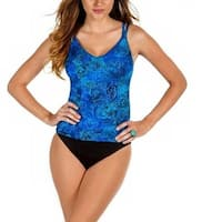Miraclesuit Swimsuit  Metallic Printed Tummy Control Tankini Top 8