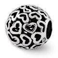 Sterling Silver Reflections Hearts Bali Bead (4mm Diameter Hole) - Thumbnail 0