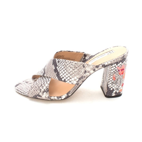 INC International Concepts Womens Madalyn2 Fabric Open Toe Casual Slide Sandals