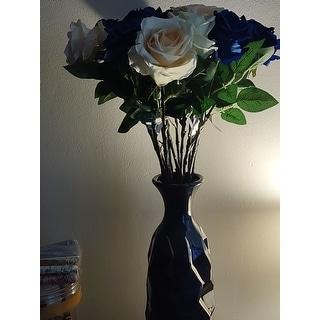 Carson Carrington Alavus 16 x 5-inch Modern Faceted Ceramic Bud Vase