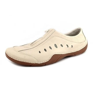 Propet Swift Women 2E Round Toe Leather Ivory Walking Shoe