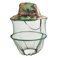 Unique Bargains Men Women Foldable Hiking Fishing Cap Sun Hat Mesh Veil Hooded
