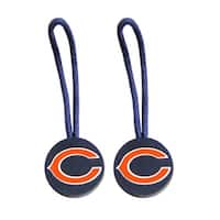 Chicago Bears Zipper Pull Charm Tag Set Luggage Pet ID NFL