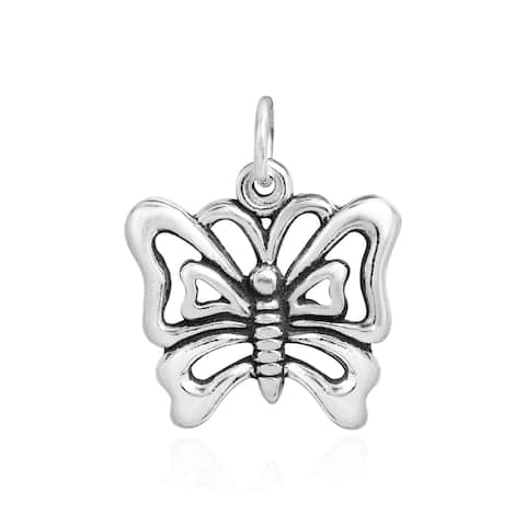 Handmade Chic Beauty .925 Sterling Silver Butterfly Charm Pendant (Thailand)