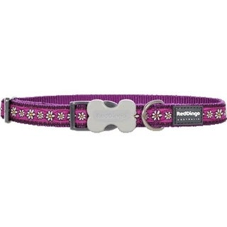 Red Dingo DC-DC-PU-ME Dog Collar Design Daisy Chain Purple, Medium