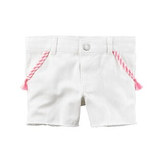 Carter's Baby Girls' Twill Denim Shorts, 12 Months
