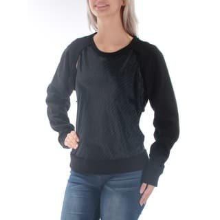 Quick View.  45.59. DKNY Womens Black Striped Long Sleeve Jewel Neck Top ... 977f91263