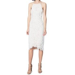 Fame and Partners Womens Alyssum Lace Sheath Dress