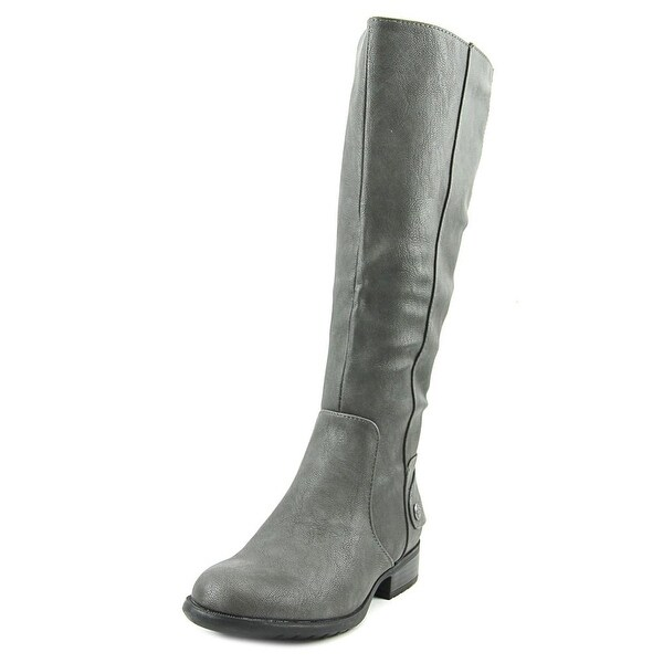 Life Stride Xandy Women Round Toe Synthetic Gray Knee High Boot