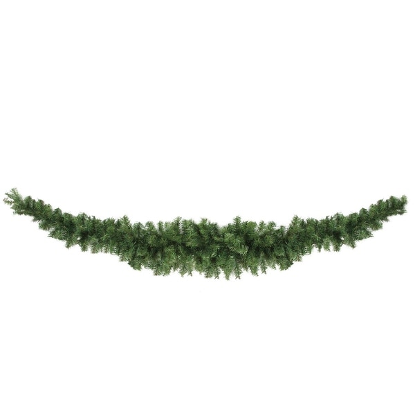 7' Canadian Pine Artificial Christmas Swag - Unlit - green