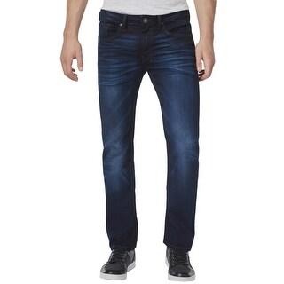 Buffalo David Bitton Six-X Slim Straight Stretch Jeans Deep Indigo Blue 32 x 32
