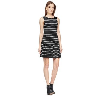 Alice & Olivia Monah Shimmery Striped Knit Cocktail Day Dress - XS