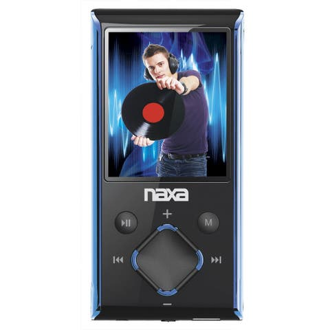 "Naxa Portable 8GB Media Player with 1.8"" LCD Screen- Blue"