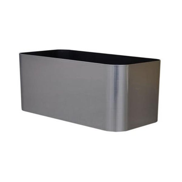 30 X 7 X 7 In Mesa Rectangle Planter Stainless Steel Free