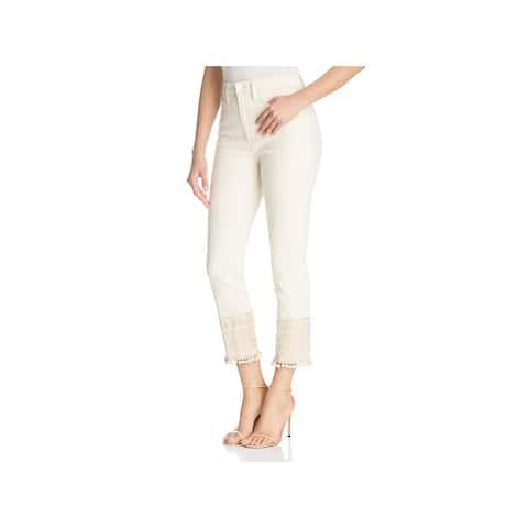 Tory Burch Womens Cropped Jeans Denim Pom Pom - 28