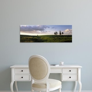 Easy Art Prints Panoramic Images's 'Clouds over a landscape, Iowa County, Wisconsin, USA' Premium Canvas Art