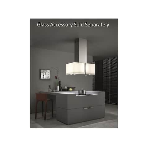 Corpo Mirabilia main unit-85cm square island-500CFM-Base only. Glass accessory FMMIA3410GL must be ordered separately.