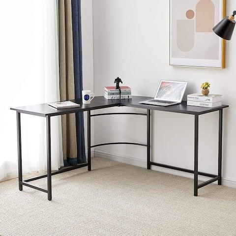 TiramisuBest L-Shaped Home Office Computer Desk Industrial Corner Desk