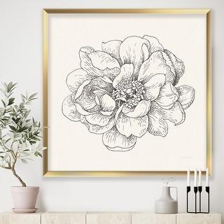 Link to Designart 'Pen and Ink Florals IV' Farmhouse Framed Art Print Similar Items in Art Prints