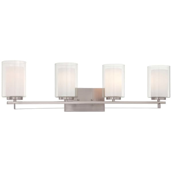 Minka Lavery 6104-84 4 Light Vanity Light from the Parsons Studio Collection - Brushed nickel
