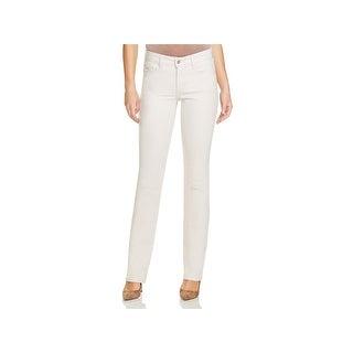 NYDJ Womens Petites Marilyn Straight Leg Jeans Denim Lift Tuck Technology