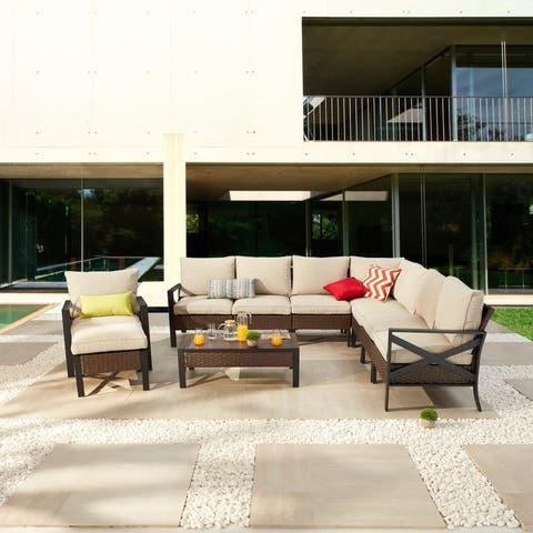 X-Arm 10-Piece Outdoor Conversation Set