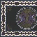Handmade 100% Cotton Celtic Wheel of Life Tapestry Bedspread Twin 70x104 and Full 88x104 in Black Tan & Black Purple colors - Thumbnail 5