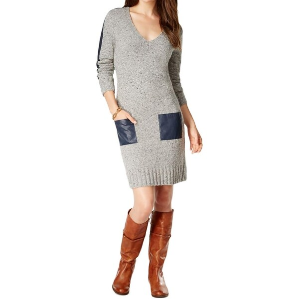 Tommy Hilfiger Womens Sweaterdress Knit Pocket