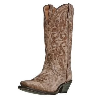 Laredo Western Boots Womens Leather Maricopa Goat Tan Crackle 51041
