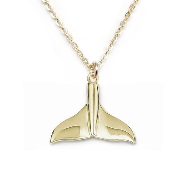 "Julieta Jewelry Whale Tail Gold Charm 16"" Necklace"