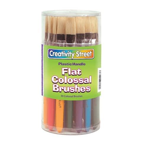 Creativity street colossal flat handle brush asstd 5167