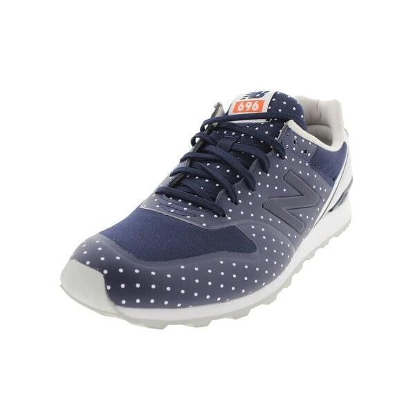 online store 762ea de7f7 New Balance Womens 696 Running Shoes Faux Leather Mini Dot