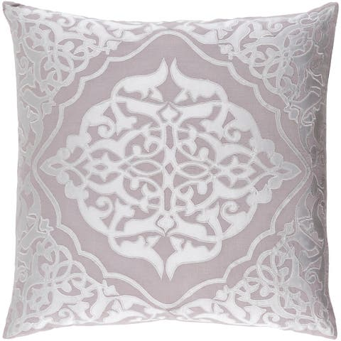 Decorative Fort Collins Grey 20-inch Throw Pillow Cover