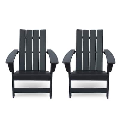 Encino Outdoor Contemporary Adirondack Chair (Set of 2) by Christopher Knight Home
