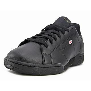 Reebok NPC ll Men  Round Toe Leather Black Fashion Sneakers