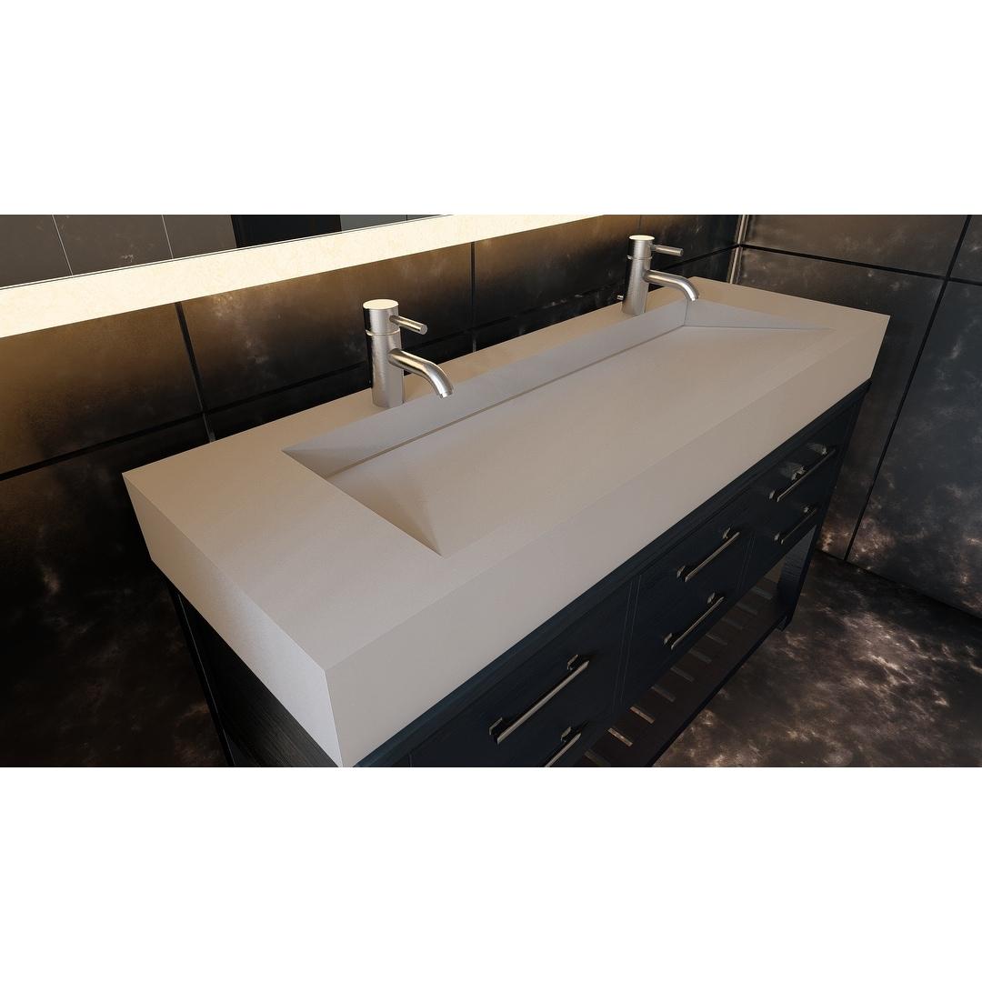 Pyramid 60 Solid Surface Bathroom Vanity Top Overstock 32139760