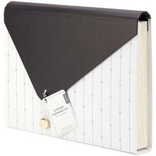 White - Modern-Noir Expandable File 13 Pockets
