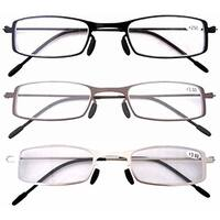 Eyekepper 3 Pcs Lightweight Stainless Steel Frame  Reading Glasses+1.75
