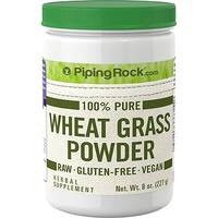 Piping Rock 100% Pure Wheat Grass Powder 8 oz. (227 g) Herbal Supplement