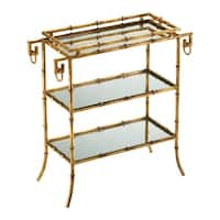 Cyan Design 4208 Bamboo Tray Table - GOLD - N/A