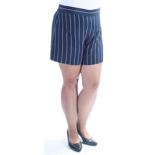 RALPH LAUREN $165 Womens New 1146 Navy Pinstripe Wide Leg Short 14 B+B