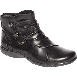 Rockport Women's Cobb Hill Penfield Slouch Boot Black Leather