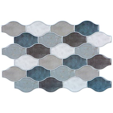 Simplify Peel & Stick Wall Tile 4 Pack in Hour Glass Greys