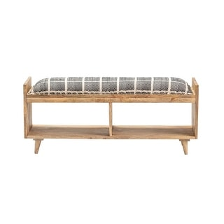 Link to Madison Mango Wood and Cotton Storage Bench - 45 x 16 x 18 Similar Items in Living Room Furniture