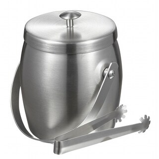 Visol VAC313 Visol Symon Stainless Steel Double Wall Ice Bucket with Tongs