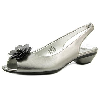 Anne Klein Lesta Open-Toe Synthetic Slingback Heel