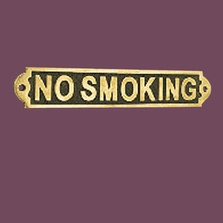 2 Solid Brass Sign NO SMOKING Polished Brass Plaques