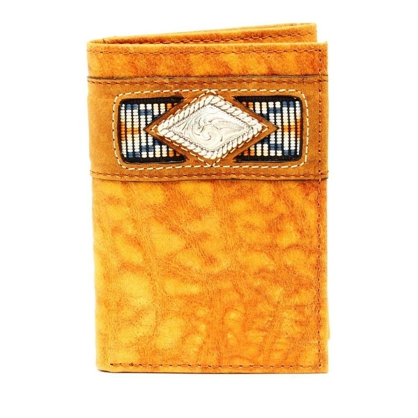Ariat Western Wallet Mens Trifold Gator Ribbon Natural - One size